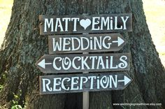 Vintage Wedding Signs AND Stake Reclaimed Wood by TRUECONNECTION, $100.00