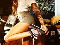 Chick with tats & J's.