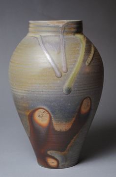 Clay Vase Wood Fired M37 by JohnMcCoyPottery on Etsy, $140.00. www.etsy.com/shop/JohnMcCoyPottery