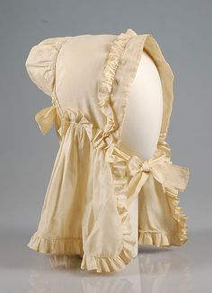 Bonnet Date: ca. 1860 Culture: American Medium: Cotton Credit Line: Brooklyn Museum Costume Collection at The Metropolitan Museum of Art, Gift of the Brooklyn Museum, 2009; Robert B. Woodward Memorial Fund, 1921 Accession Number: 2009.300.4044