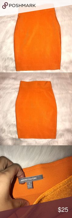 Wow Couture skirt Brand new without tags orange wow couture skirt WOW couture Skirts