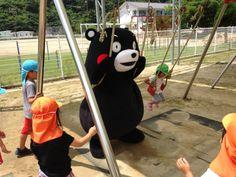 Kumamon in a swing