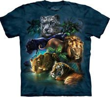 Tiger King Jungle Lion Leopard Puma The Mountain Blue Wild Majestic Exotic Animal Gift Cotton Big Cats Adult T-Shirt Pet Gifts, Cat Lover Gifts, Big Cats, Cats And Kittens, Elephant Zoo, Wild Cat Species, Corgi Facts, Jungle Lion, Tiger Face