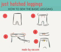 just hatched basic sewing diagram   blogged   Rae   Flickr