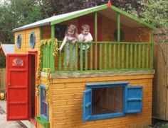 Outdoor Play house with balcony