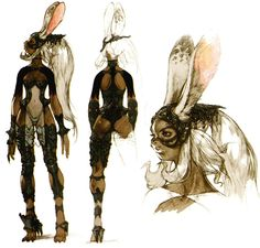 Creative Uncut updated their FF12 gallery with much bigger images of the character concept art! I love FF12 so much, and Akihiko Yoshida is ...