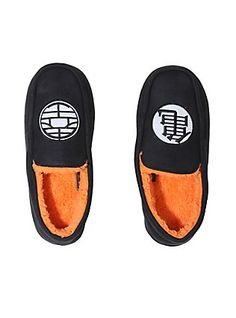 Dragon Ball Z Logo Guys Moccasin Slippers 63def07fea7a6