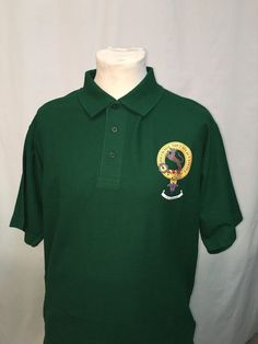 Green cotton polo sh
