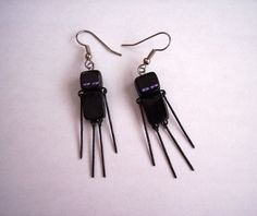 Minecraft Inspired Enderman Earrings by BugTaxi on Etsy, $22.00