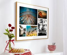Mixing up black and white with color photos in a single frame. (via snapfish.com)