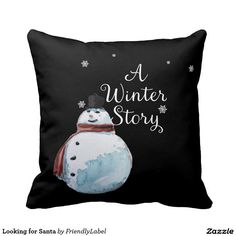 Looking for Santa Throw Pillows