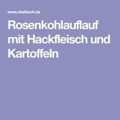 Rosenkohlauflauf mit Hackfleisch und Kartoffeln