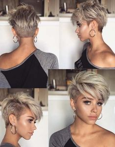 Melhores cortes de cabelo Pixie Undercut para cabelos curtos em 2018 - The 100 best photographs ever taken without photoshop Undercut Pixie Haircut, Short Pixie Haircuts, Short Hairstyles For Women, Haircut Short, Short Hair For Women, Hairstyles 2018, Short Bangs, Blonde Short Hair Pixie, Short Hair With Undercut