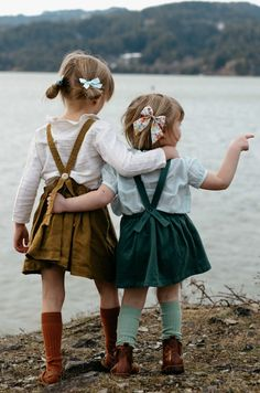 """Click to shop handcrafted hair bows by Wunderkin Co. The perfect hair bow to embolden your baby's, toddler's or little girls free spirit and individual style. Handmade by moms in the USA and guaranteed for life. """"Dew"""" Pigtail Set."""
