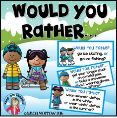 FREEBIE!  30 fun Would You Rather scenarios for your kiddos to use to practice Opinion Writing and Graphing!