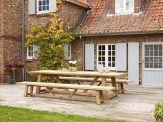Gerecycleerde teak tafels Bristol Garden tuinmeubelen | Overstock