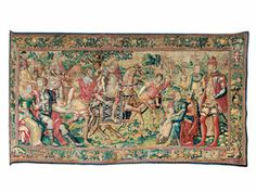 In this Brussels tapestry from the mid-16thc., couples are both courting and courtly.
