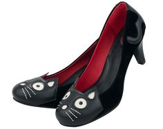 Black Velvet Kitty Anti Pop Heel - T.U.K. Shoes | T.U.K. Shoes