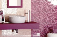 keramik warna pink