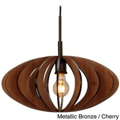 Canopy 1-light Aqua Tech Wood Slat Mini Pendant - Free Shipping Today - Overstock.com - 15533128 - Mobile