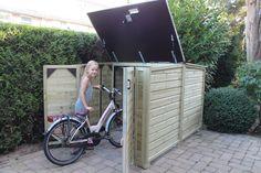 Voor een familie in Leidschendam heeft ProVelo een fraaie fietsenberging geleverd