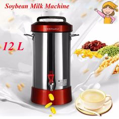 (400.00$)  Know more  - 12L Large Capacity Fully Automatic Commercial Soybean Milk Machine Soymilk Maker Fashion Juicer RD-900Y