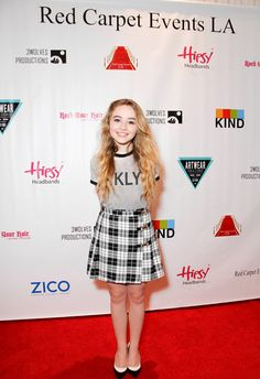 Sabrina Carpenter attended the Red carpet Events LA Luxury Gift Style Lounge in Honor of 2014  Teen Choice Awards for Nominees and Presenters