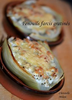 Recipe for Stuffed Fennel Gratin - Moyiki Sites Cheap Meals, Easy Meals, Fennel Gratin, Healthy Dinner Recipes, Vegan Recipes, Healthy Food, Confort Food, Batch Cooking, Afternoon Snacks