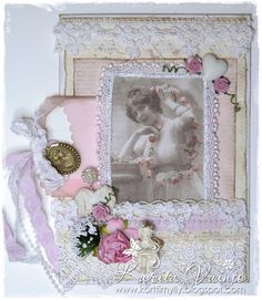 Card created by LLC DT Member Karita Vainio, using image and papers (For Mother) from Pion Design.