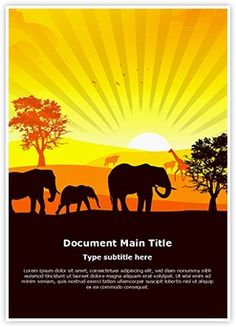 African Wildlife Word Document Template is one of the best Word Document Templates by EditableTemplates.com. #EditableTemplates #PowerPoint #templates Landscape #Panorama #Light #African #Nature #Art #Birds #Dusk #Tour #Sunlight #Rise #Mammal #Outback #Grass #Animal #Antelope #Back #Night #Silent #Outdoors #Environment #Painting #Park #Mountains #Animals And Pets #Summer #Themes #Dawn #Freedom #Sunset #Tranquil #Plant #Kudu #Grazing