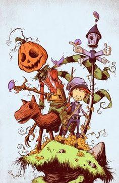The Marvelous Land of Oz, artwork by Skottie Young Marvel Comic Books, Comic Books Art, Comic Art, Marvel Comics, Book Art, Skottie Young, Illustrations, Illustration Art, Son Chat