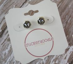 Monogrammed Pearl Stud Earrings by SnickerdooStitches on Etsy