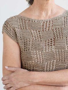 Free Knitting Pattern For A Lace Women's Tee Iras * kostenloses strickmuster für ein spitzen-frauen-t-stück iras * modèle de tricot gratuit pour un t-shirt iras pour femmes en dentelle Free Knitting Patterns For Women, Sweater Knitting Patterns, Knitting Designs, Knit Patterns, Knitting Blogs, Easy Knitting, Knitting Stitches, Knitting Projects, Gilet Crochet