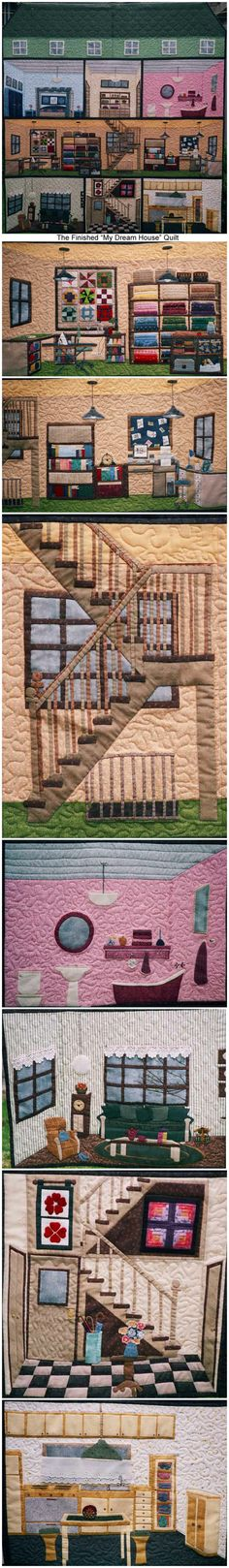 """My Dream House"" by Angie Padilla -- INCREDIBLE applique art quilt"