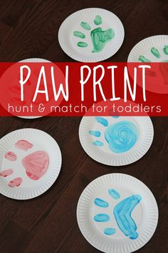 Toddler Approved!: Paw Print Hunt & Match Game for Toddlers