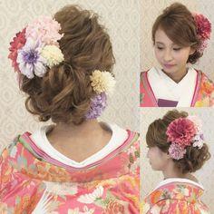結婚式の前撮り 和装ロケーション撮影のお客様波ウェーブをかけて 左よせの下めアップ 左下からしっかりシニヨンが見えるように作ってあります 左右に赤やピンクやパープルなどのお花を沢山つけました #ヘア #ヘアメイク #ヘアアレンジ #結婚式 #結婚式ヘア #サロモ #東海プレ花嫁 #ウェディング #和装ヘア #バニラエミュ #セットサロン #ヘアセット #アップスタイル #成人式ヘア #プレ花嫁 #和装前撮り #前撮り #着物ヘア #和装 #結婚準備 #花#色打掛#2016秋婚 #kimono #photo #hair #wedding #beauty #hairmake