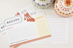 lovely recipe  cards