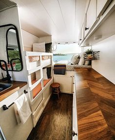Looking for some inspiration for your camper build? Check out article on the Top Ten Best DIY Camper Van Conversions to give you some ideas. Ford Transit Camper Conversion, Van Conversion Interior, Camper Van Conversion Diy, Van Conversion Layout, Diy Van Conversions, Van Conversion With Bunk Beds, Van Conversion Murphy Bed, Van Conversion Designs, Vw Camper Conversions