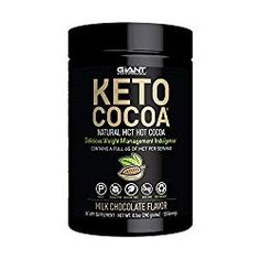 Ideal Protein Diet Supplements - Giant Sports Keto Cocoa - Sugar Free Hot Chocolate with MCTs for Low Carb Ketogenic and Paleo Diet, Gluten Free, 20 Servings -- Check out the image by visiting the link. (This is an affiliate link) Sugar Free Hot Chocolate, Hot Chocolate Mix, Hot Chocolate Recipes, Chocolate Flavors, Gluten Free Diet, Paleo Diet, Keto Foods, Bulletproof Coffee, Recipes