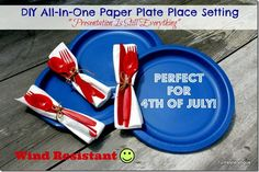DIY Wind Resistant Paper Plate Pace Setting - www.turnstylevogue