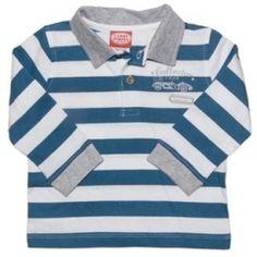 Striped long sleeve polo shirt.  Sizes 000, 00, 0 & 1.