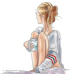 Messy bun and getting nothing done. ☕️ #WeekendPlans {Inspired by @Nordstrom}
