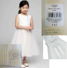 efd337b7a5 Girls bridesmaid dress ivory flower girl Bhs age 2 3 4 5 6 7 8 9 10 11  years NEW