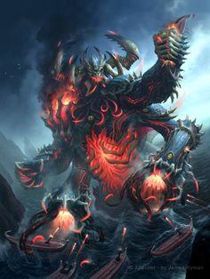 Artist: James Ryman aka namesjames - Title: unleashed demon adv - Card: Unknown