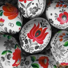 Easter greetings kalocsai eggs, traditional Hungarian handpainted eggs Size: Small x Gender: unisex. Making Easter Eggs, Easter Egg Dye, Pinterest Easter Ideas, Spring Crafts, Holiday Crafts, Art D'oeuf, Ukrainian Easter Eggs, Ideias Diy, Egg Art