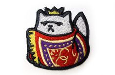 Xerxes IX Rare cat  Neko Atsume Sew On Machine by JuliefooStitches