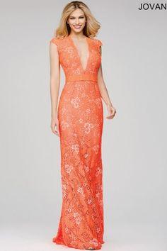 10EW, orange lace gown
