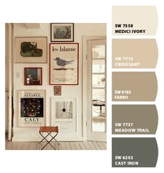 Paint colors from ColorSnap by Sherwin-Williams Ivory Paint Color, Wall Paint Colors, Room Paint, Exterior Paint Colors For House, House Colors, Interior Paint, Interior Decorating, Paint Color Palettes, Interior Color Schemes