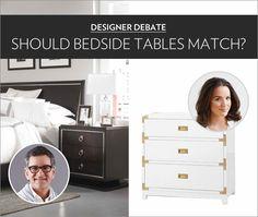 Designer Debate: Should Bedside Tables Match?