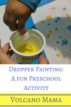 Ready to paint?! Develop fine motor skills and get creative with dropper painting